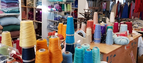 Workroom at Wagtail Yarns